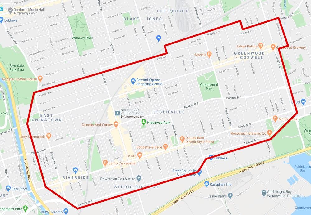 Ruffin' It Dog Walking Service Area Map
